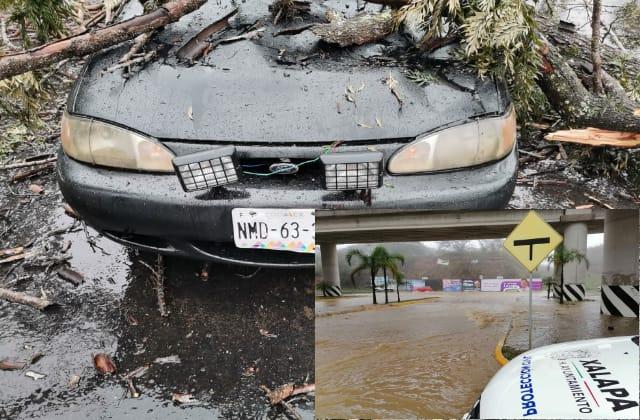 Paso de Frente Frío 29 deja afectaciones en Xalapa