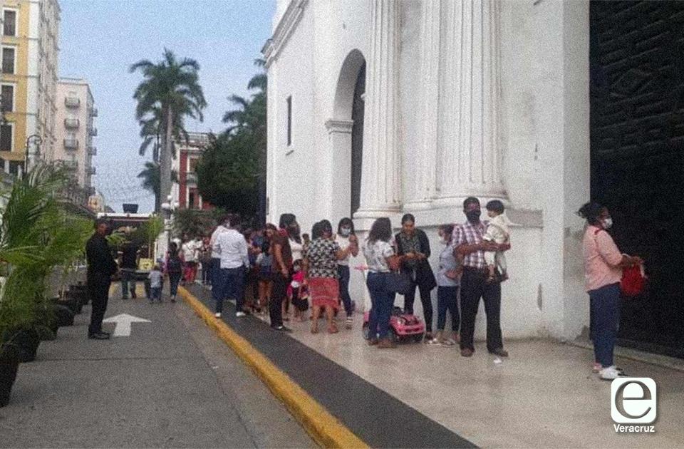 Pese pandemia, guadalupanos celebraron en catedral del Puerto