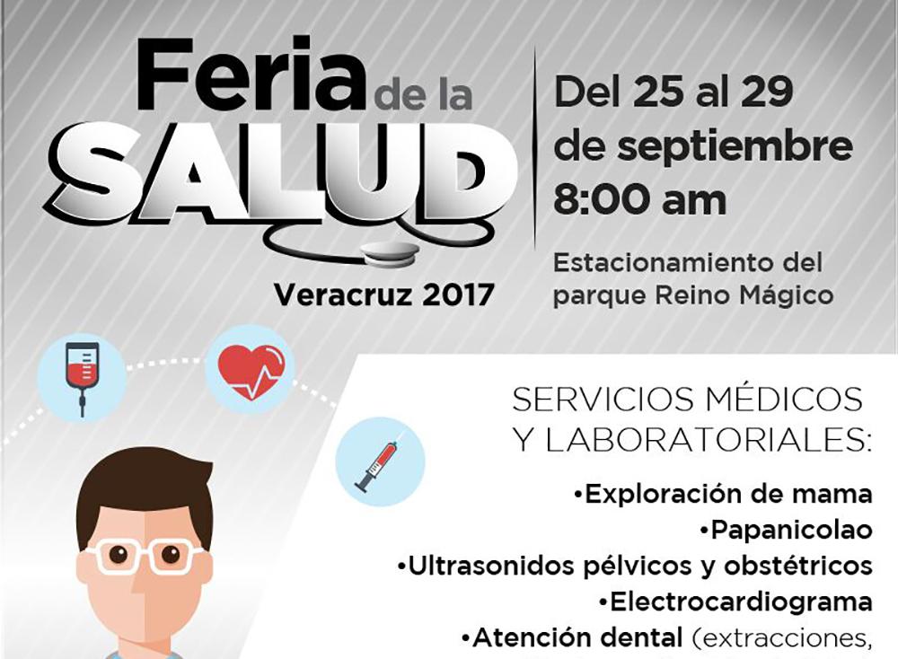 Invitan Ayuntamiento y DIF Municipal de Veracruz a Feria de la Salud