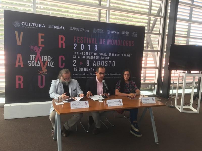 """Llega a Veracruz Festival de Monólogos """"Teatro a una sola voz"""""""
