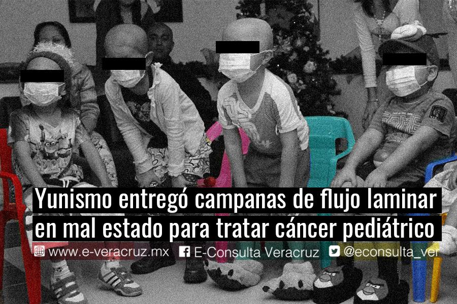 Yunismo compró equipo oncológico defectuoso para niños con cáncer