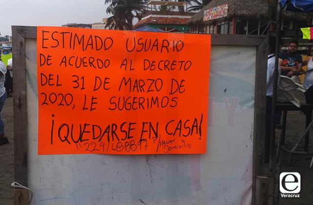 """Tras días de resistencia, palaperos de Villa del Mar dicen: """"Quédate en casa"""