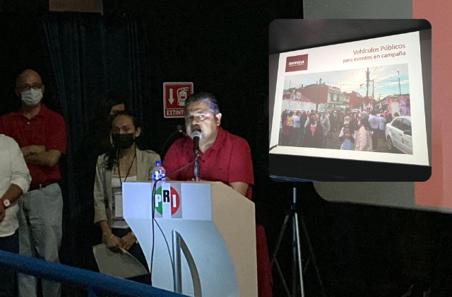 PRI denuncia a Morena por uso de recursos públicos, en Xalapa