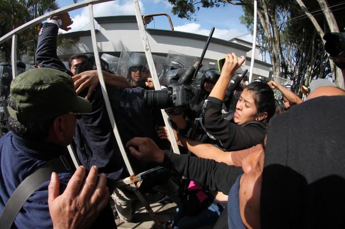 Tres reporteros agredidos por elementos de la SSP: Namiko