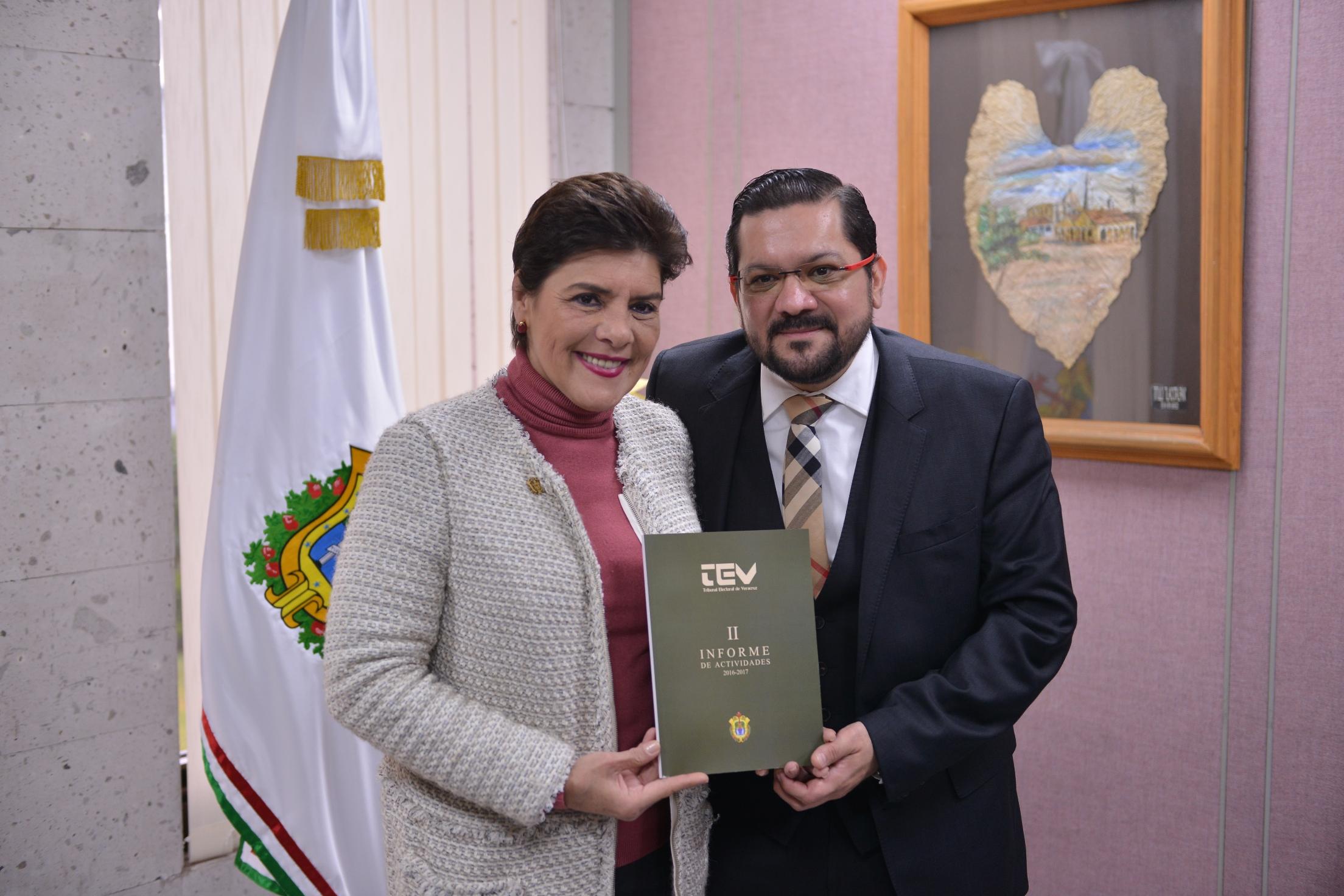Recibe LXIV Legislatura el Segundo Informe del Tribunal Electoral del Estado