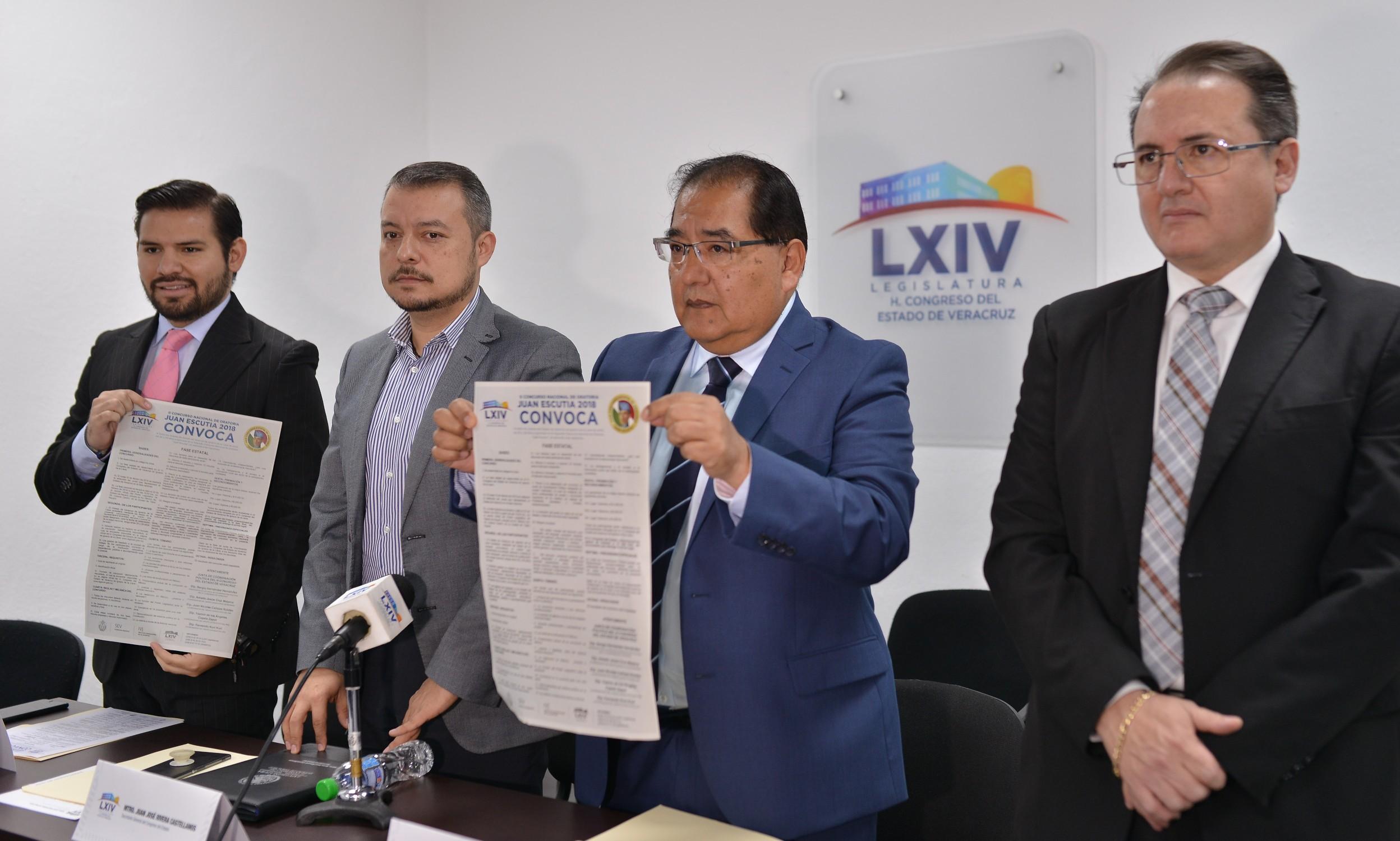 """Invitan a jóvenes veracruzanos a participar en concurso de oratoria """"Juan Escutia"""""""