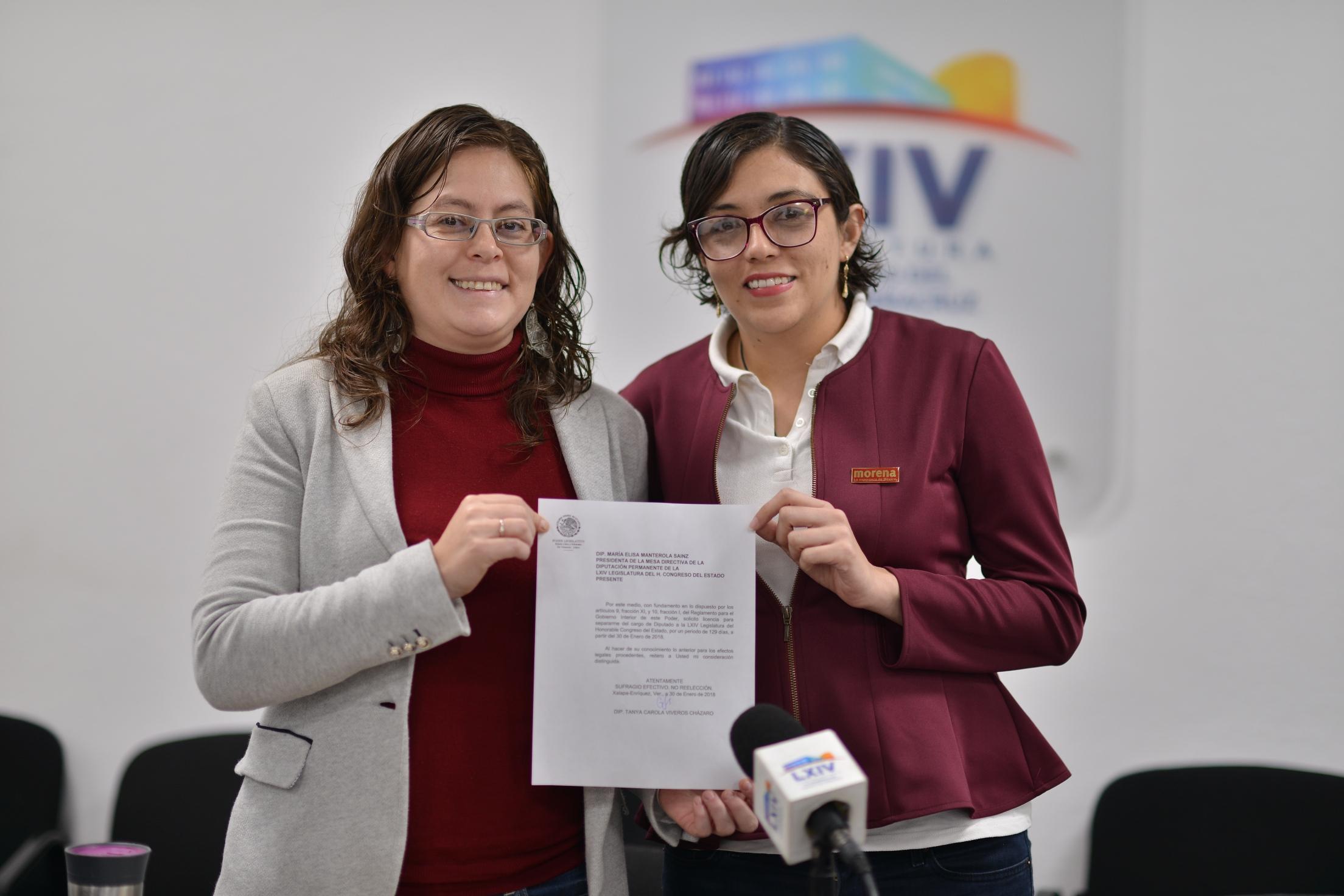 Anuncia Tanya Carola Viveros su separación al cargo de diputada