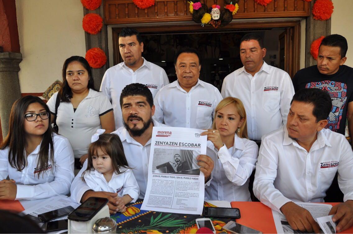 Informa diputado Zenyazen Escobar sobre sus actividades legislativas
