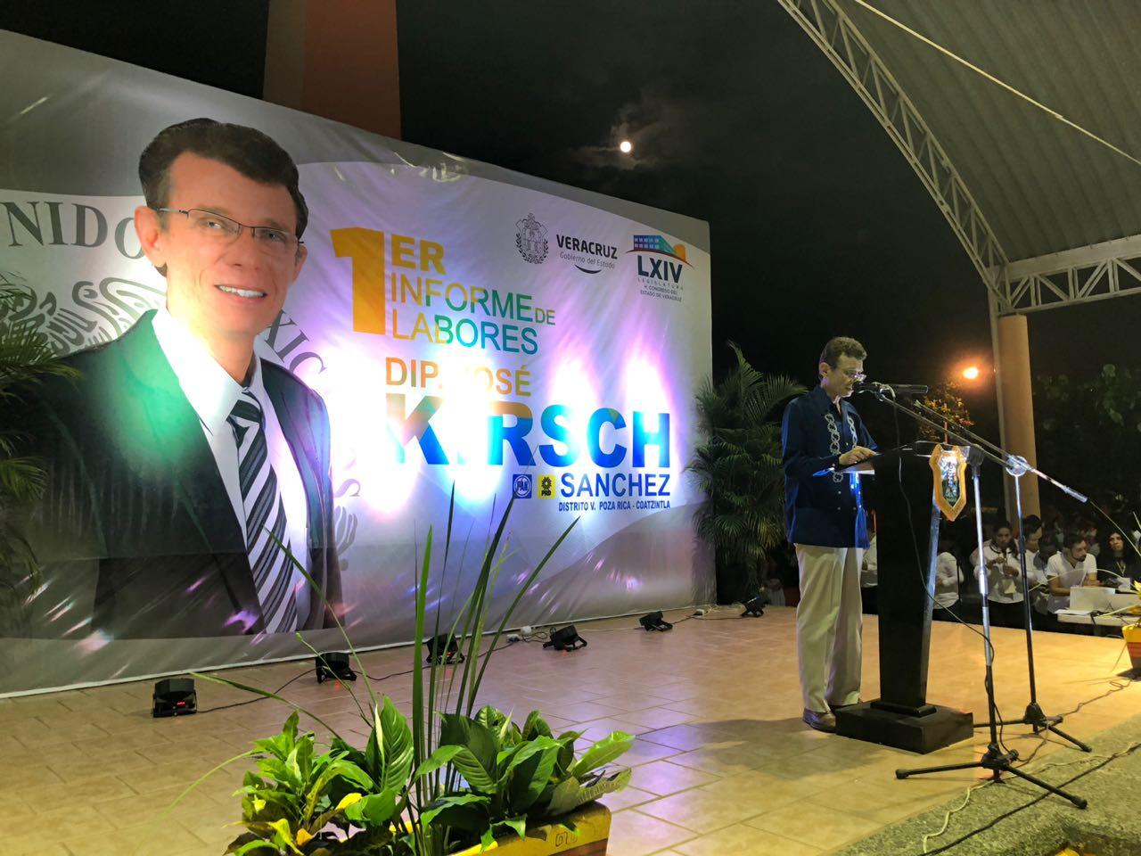 El Diputado José Kirsch Sánchez rindió su primer Informe de labores