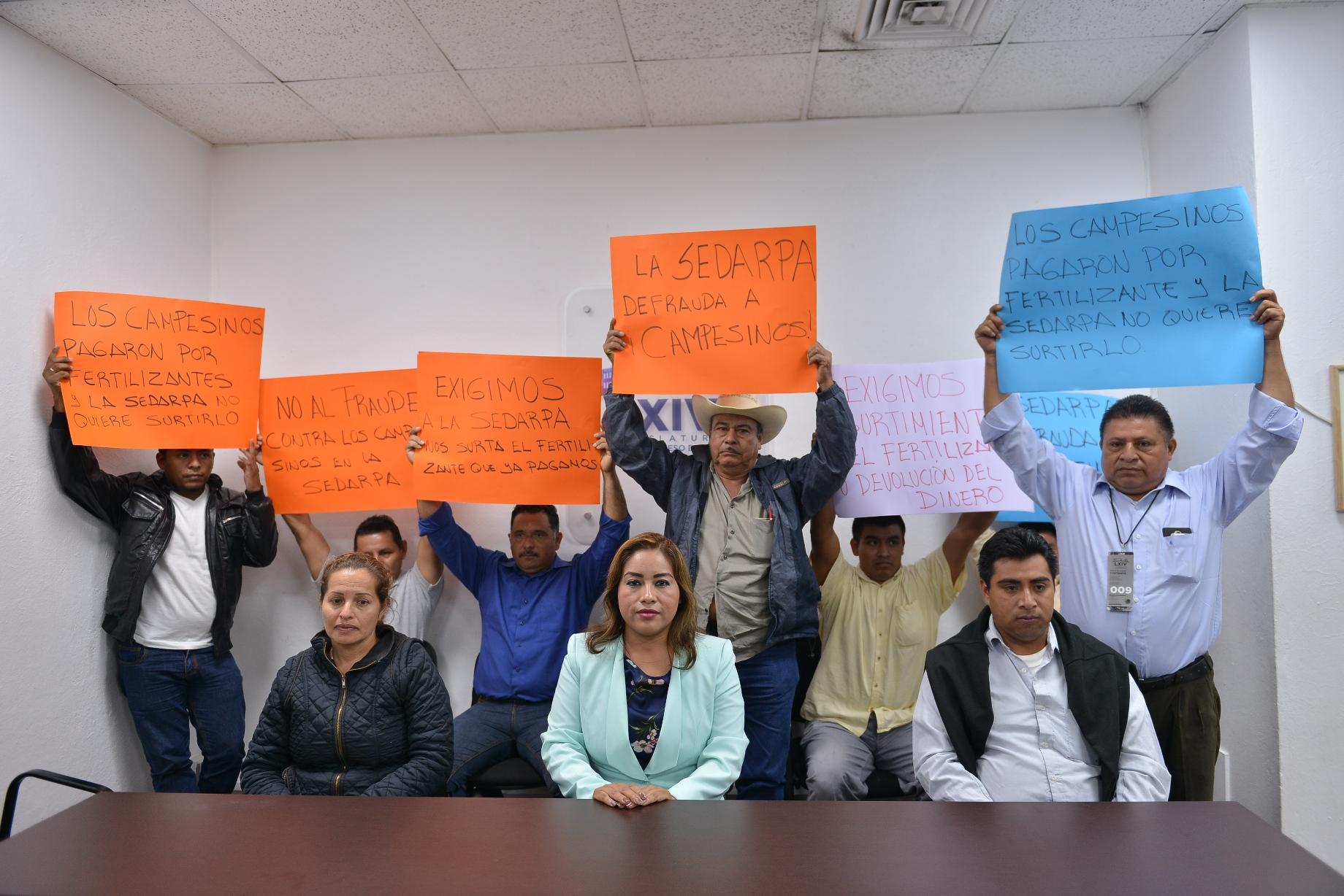Pide diputada a la Sedarpa cumplir con apoyo de fertilizante a productores