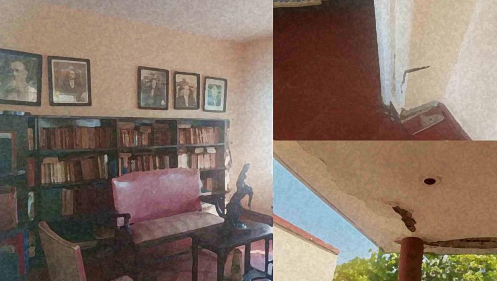 Abandonada, casa histórica del expresidente Adolfo Ruiz Cortines