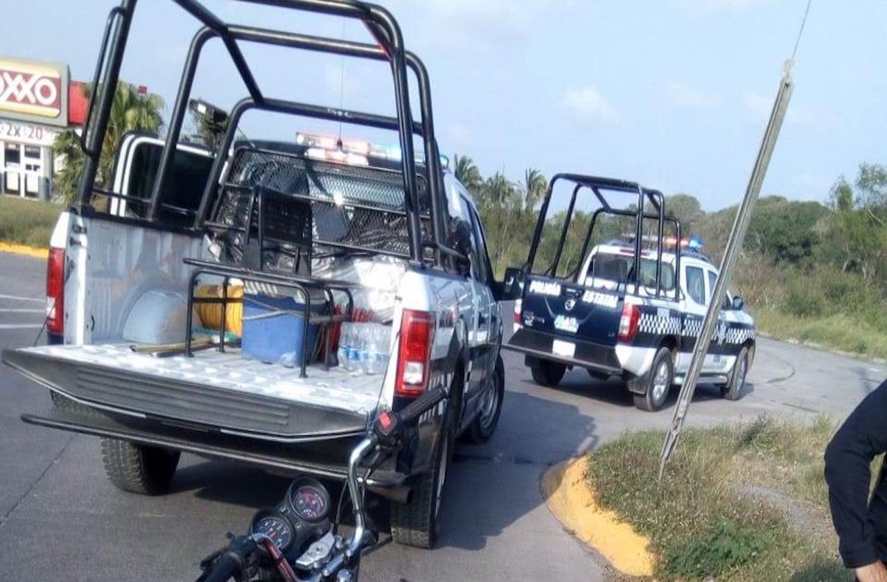 Motociclista intentó robar a bebé, en fraccionamiento de Medellín