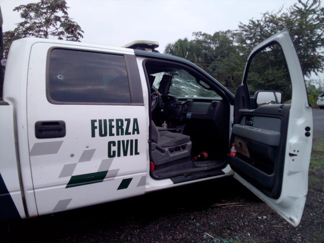 Video: Emboscan a Fuerza Civil en Tierra Blanca; un policía muerto
