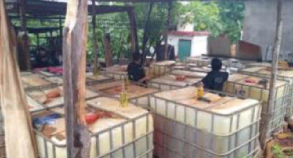 SSP asegura más de 11 mil litros de hidrocarburo, en Mecayapan