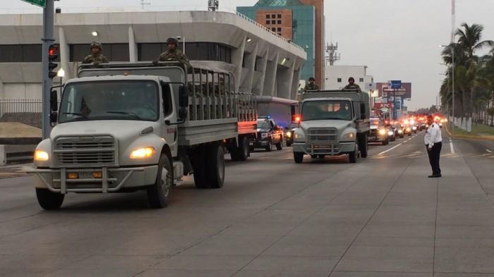 Gendarmería Nacional llega a Veracruz tras jornada de saqueos