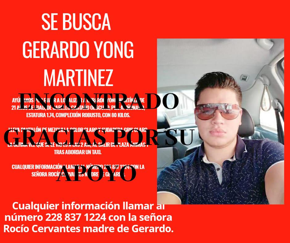 Localizan a joven reportado como desaparecido en Xalapa