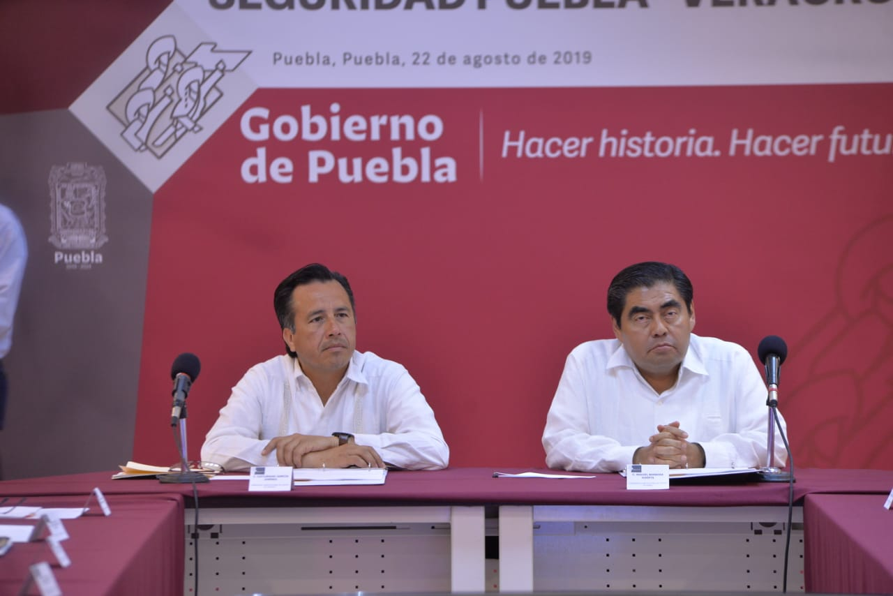 Veracruz y Puebla reforzarán seguridad en límites estatales