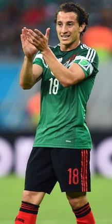 Andrés Guardado, el mejor jugador de Holanda