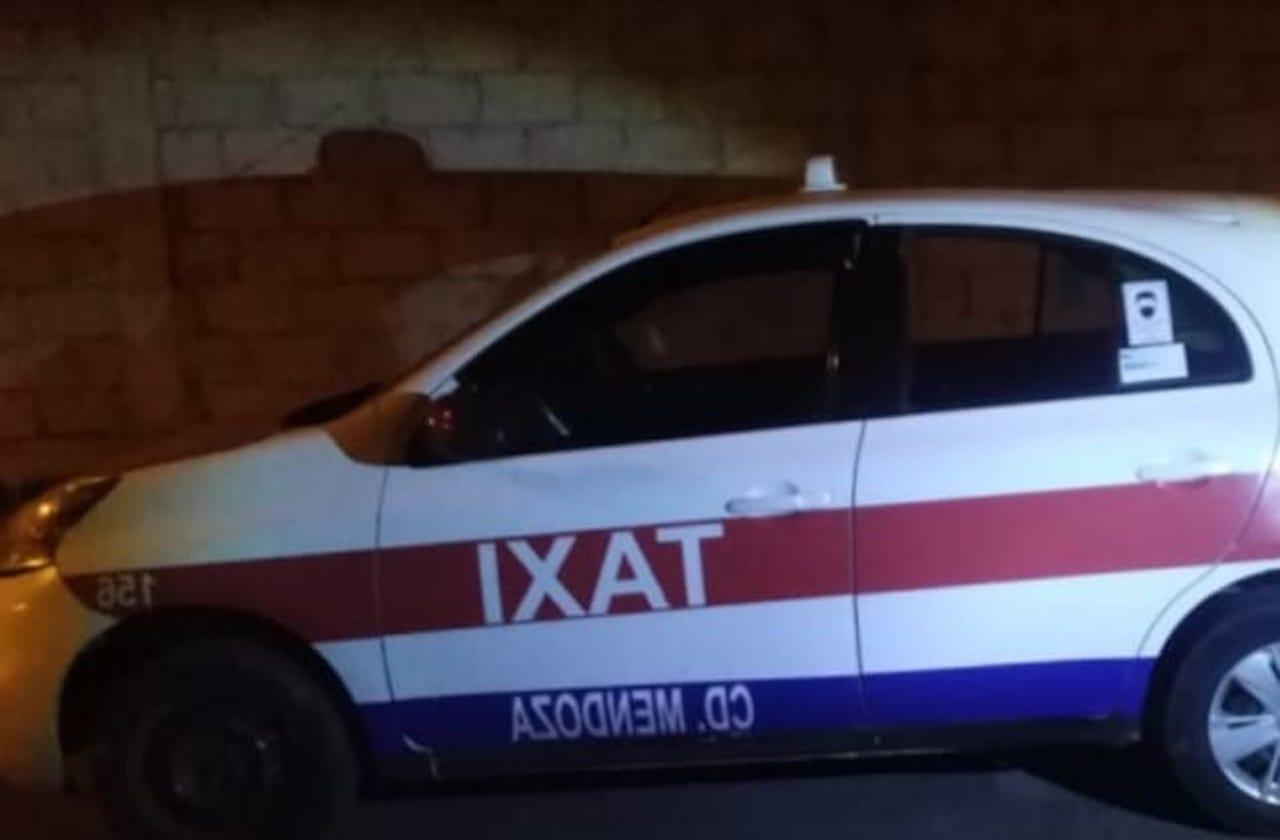 Hallan taxi abandonado en Mendoza; conductor está desaparecido