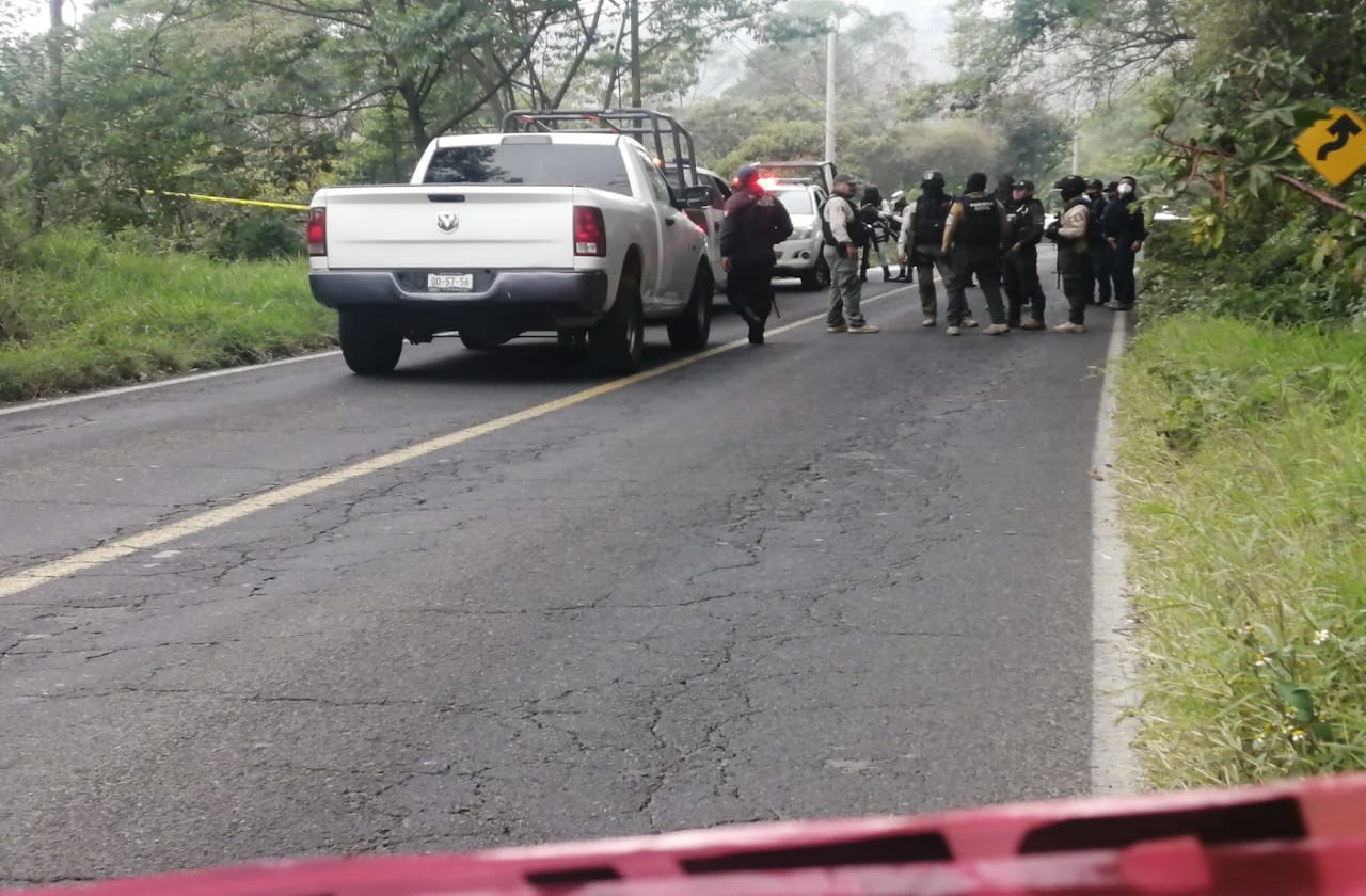 Hallan restos en carretera Huatusco-Coscomatepec