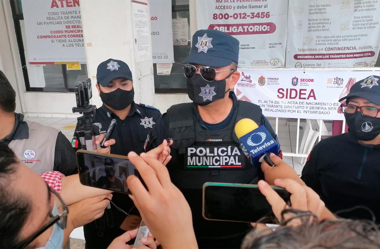 Hay 19 policías municipales de Coatza contagiados de covid-19