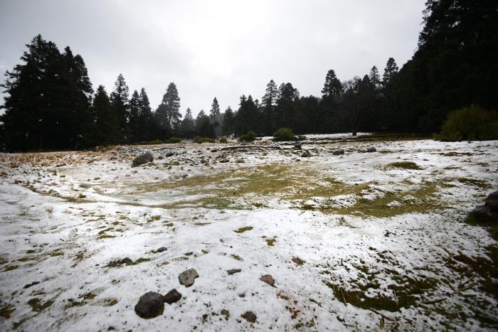 Esperan heladas y aguanieve en el Pico de Orizaba y Cofre de Perote