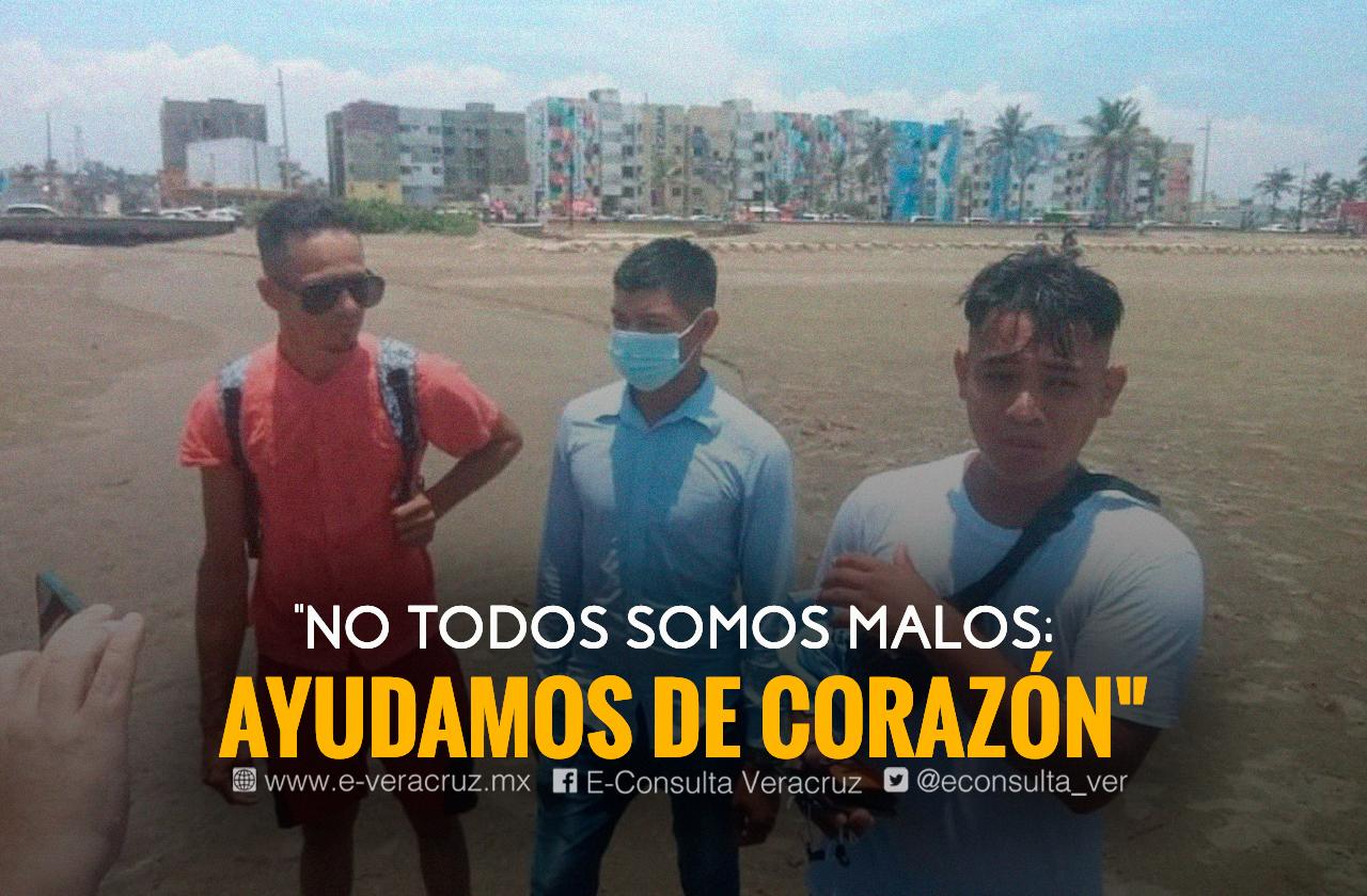 De desplazados a héroes: migrantes salvaron a turistas en playa de Coatza