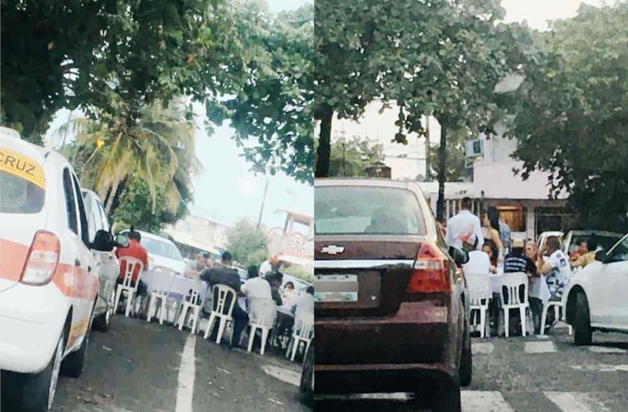Jarochos cierran calles para organizar fiesta en plena pandemia