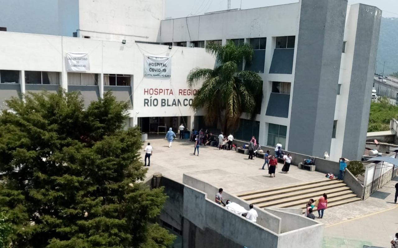 Hospital Regional de Río Blanco, saturado de pacientes covid-19
