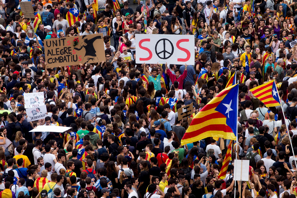 Huelga y marchas colapsan calles de Barcelona