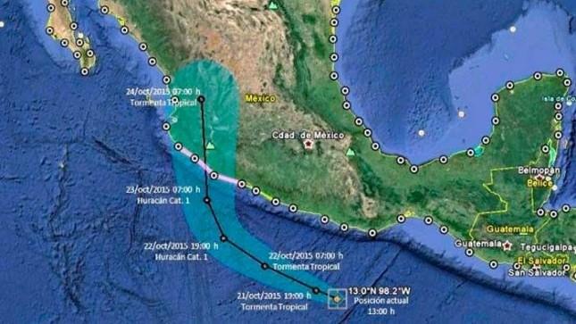 Huracán Patricia se degrada a tormenta tropical: SMN