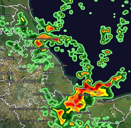 Lluvias no cesan en Veracruz; pide PC guardar precauciones