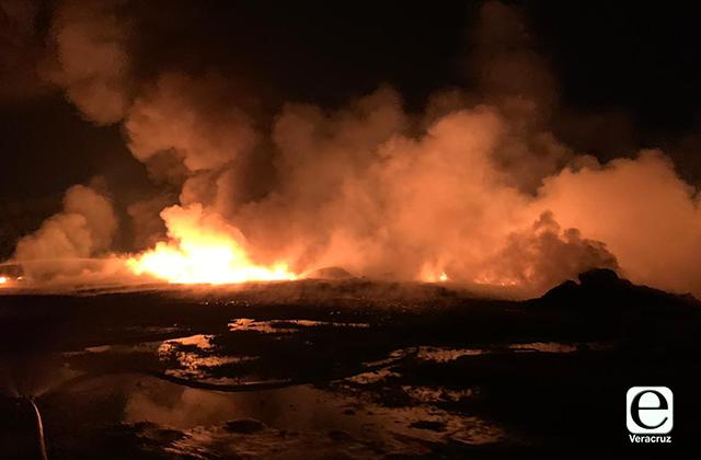 PC confirma incendio en planta CEISA de Cosoleacaque