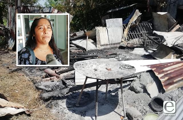Delincuentes quemaron casa de Isabel; perdió su patrimonio