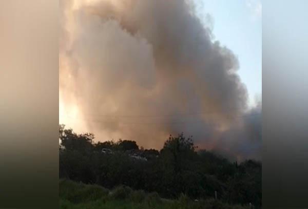 Nuevo incendio, ahora en el sur de la zona conurbada