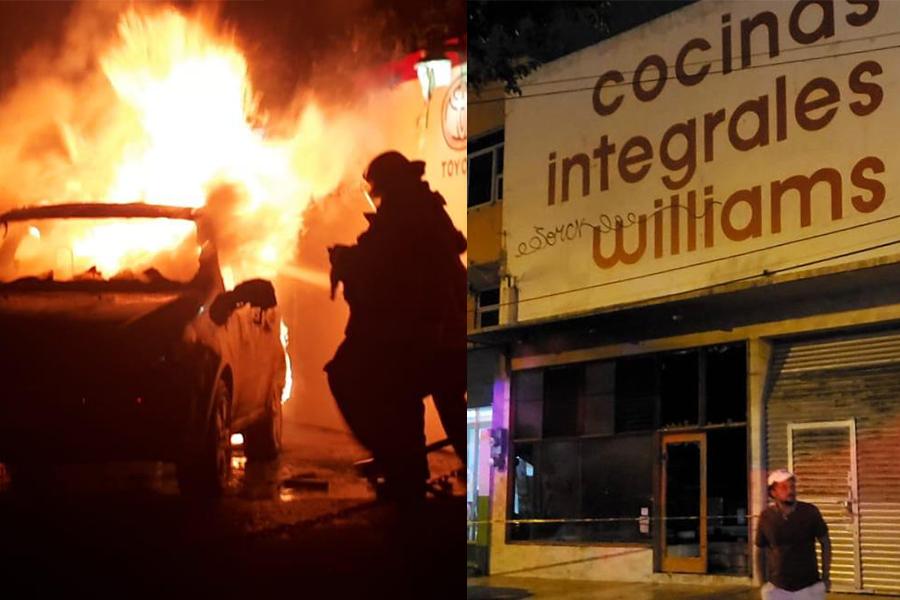 Noche de atentados en Coatzacoalcos, incendios en dos negocios