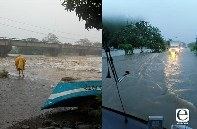 Se desborda Raudal; inunda carretera Vega de Alatorre-Nautla