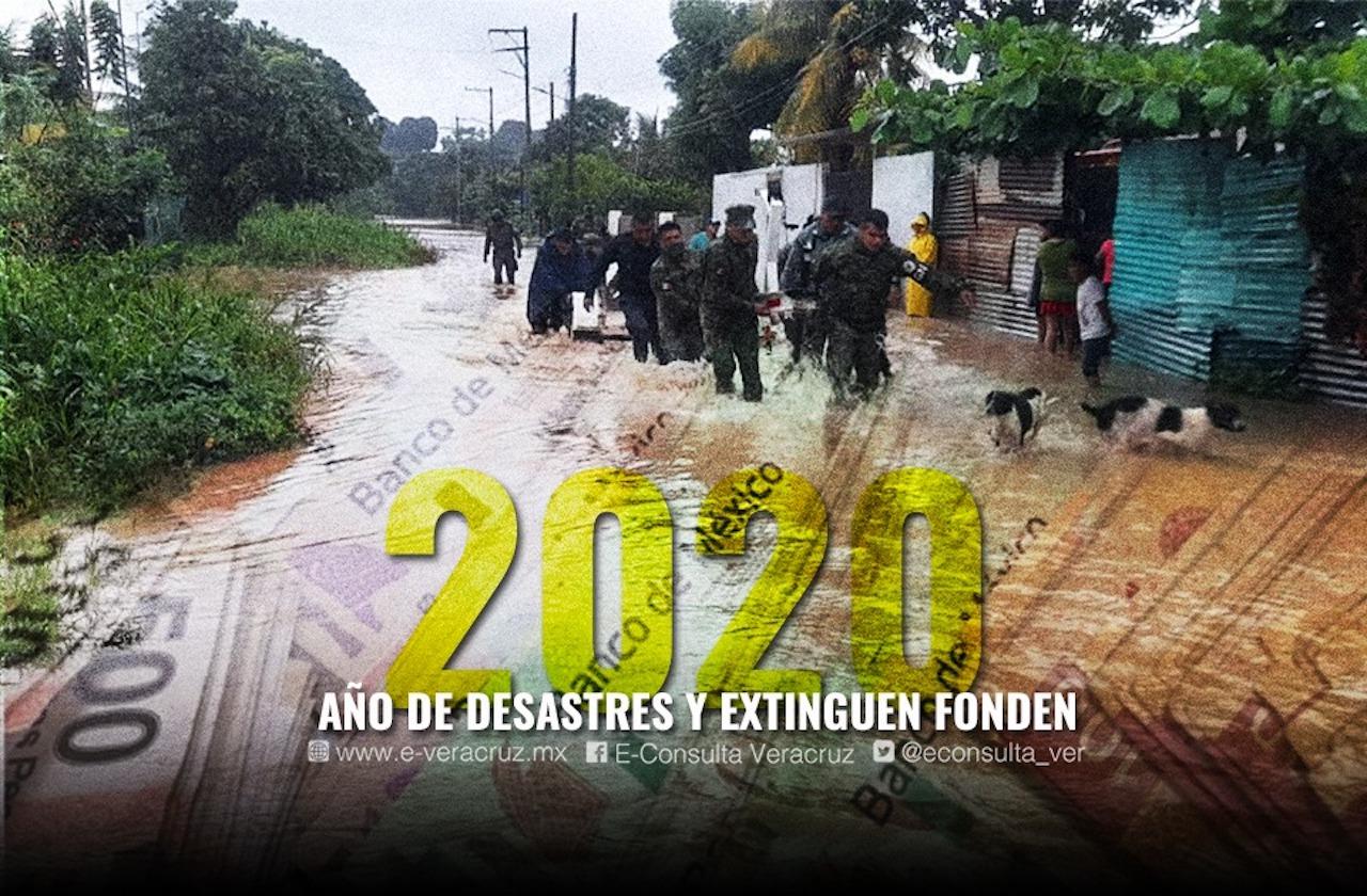 Inundaciones y tragedias golpearon con fuerza a Veracruz en 2020