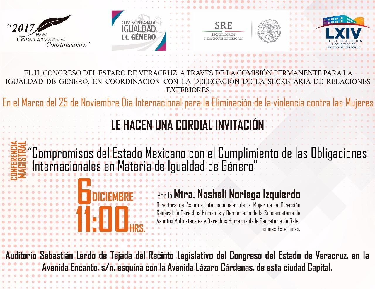 Teresita Zuccolotto invita a conferencia magistral en materia de igualdad de género