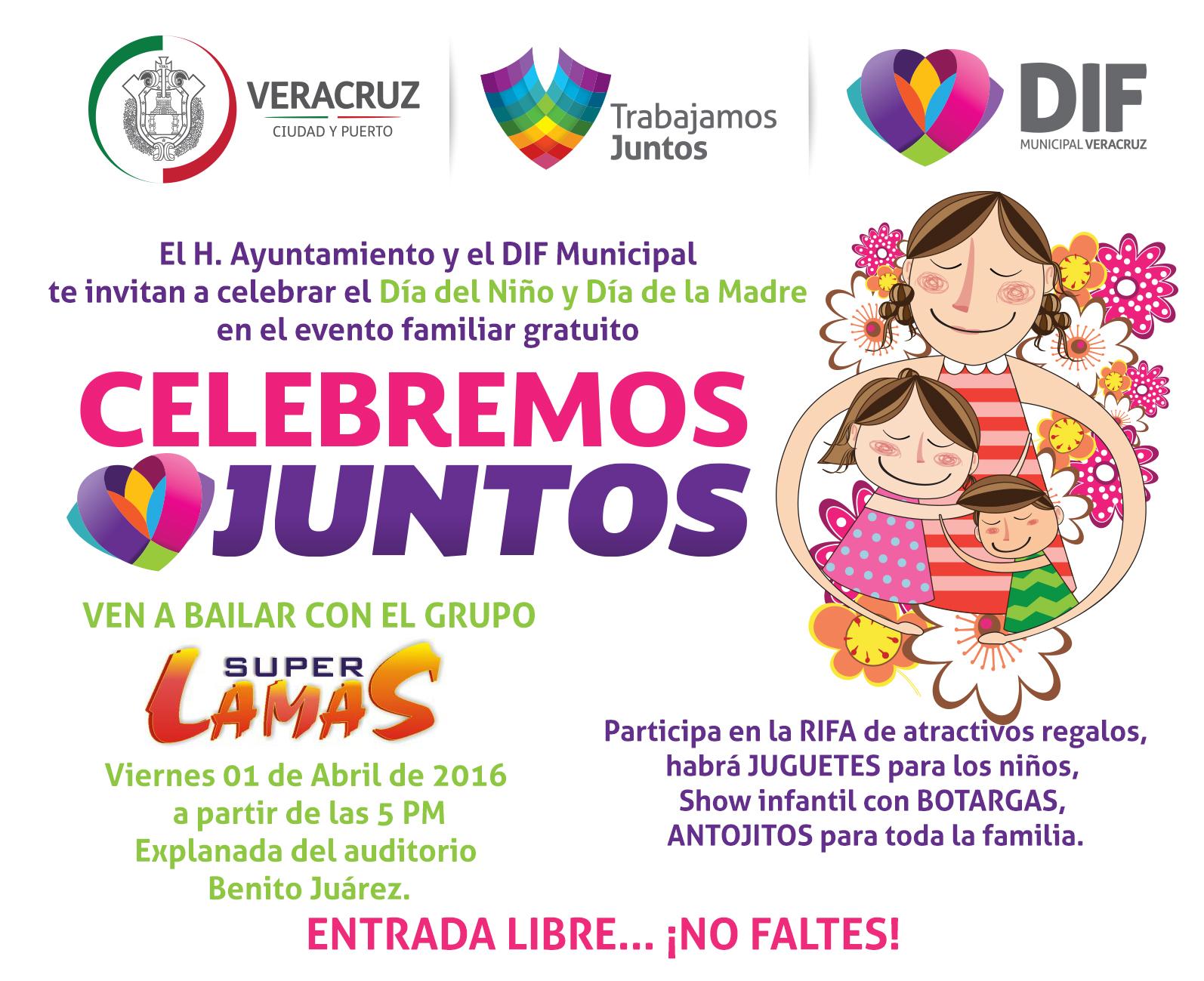 invita gobierno municipal y dif de veracruz al evento