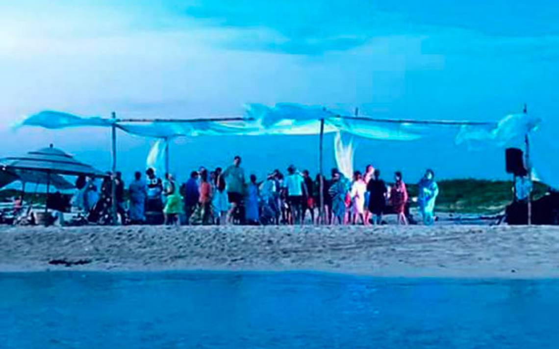 Identifican a responsable de fiesta VIP en Isla Salmedina, multa podría ser de 4 mdp