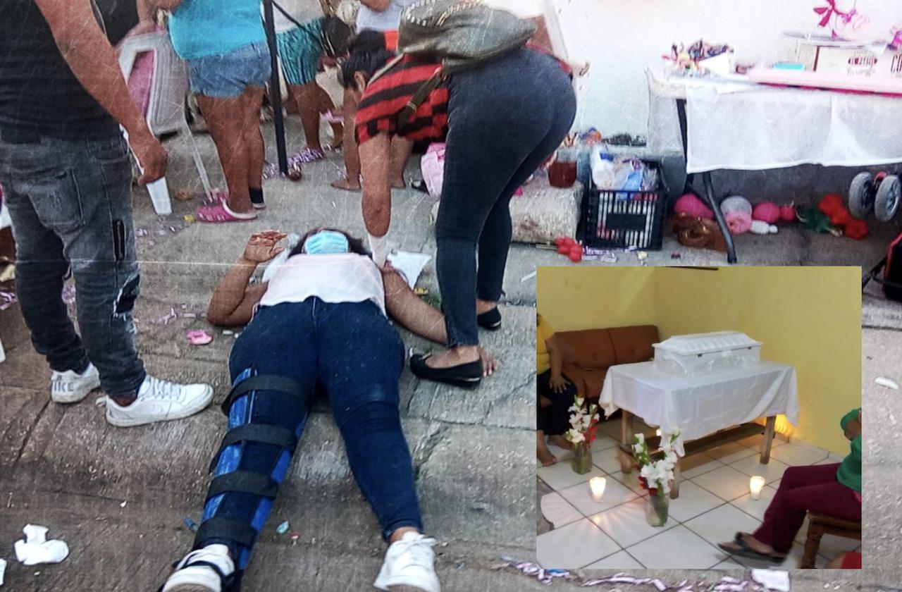 Jade Jazmín, su baby shower en Coatza que terminó en funeral
