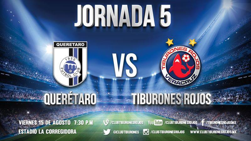 Hoy a las 7:30 Tiburones Rojos vs Querétaro