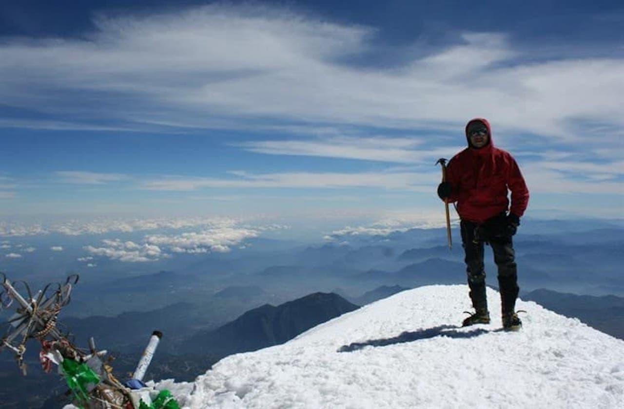 Juan, alpinista guanajuatense que murió en el Pico de Orizaba