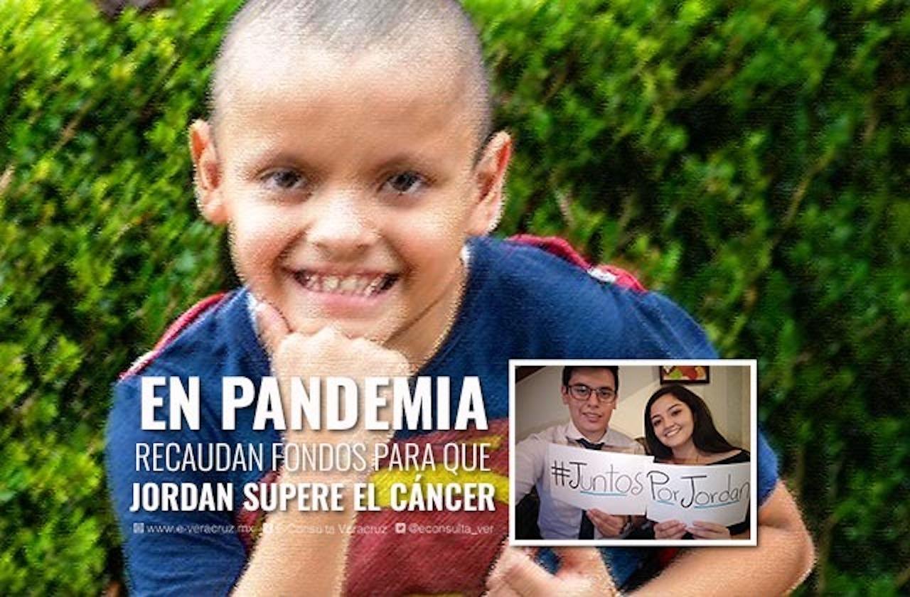La valiente lucha de Jordan contra el cáncer, xalapeño de 9 años