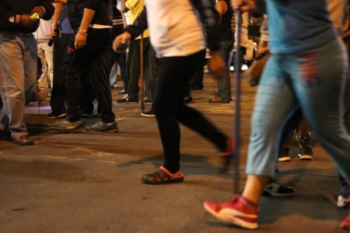 Con bates, palos, silbatos y hasta cacerolas, así patrullan xalapeños sus calles