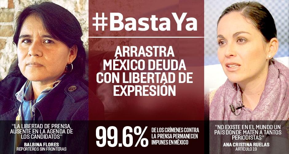 Deuda inmensa del estado mexicano con libertad de prensa: Artículo 19