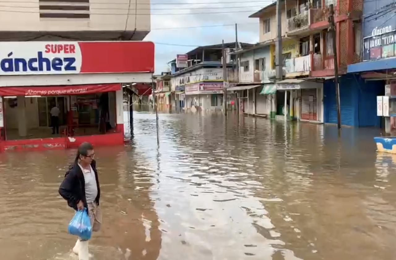 Lluvias provocan encharcamientos en zona de Playón Sur
