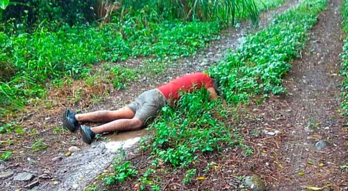 Hallan cadáver en camino de terracería en Tlapacoyan