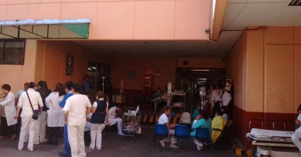 Evacuan parcialmente hospital La Raza por paciente intoxicado